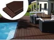 Pack 5 m² - Lames de terrasse composite alvéolaires - Marron