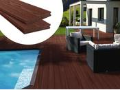 Pack 5 m² - Lames de terrasse composite co-extrudées - Marron