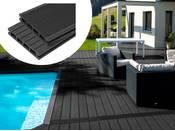 Pack 10 m² - Lames de terrasse composite alvéolaires - Gris foncé