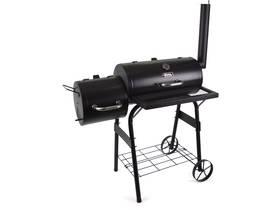 """Barbecue charbon de bois """"Baron"""" avec cheminée - Noir"""