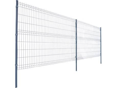 Lot de 10 m de panneaux de grillage avec poteaux et accessoires - Hauteur 153 cm - Gris anthracite