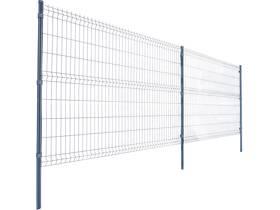 Lot de 20 m de panneaux de grillage avec poteaux et accessoires - Hauteur 153 cm - Gris anthracite