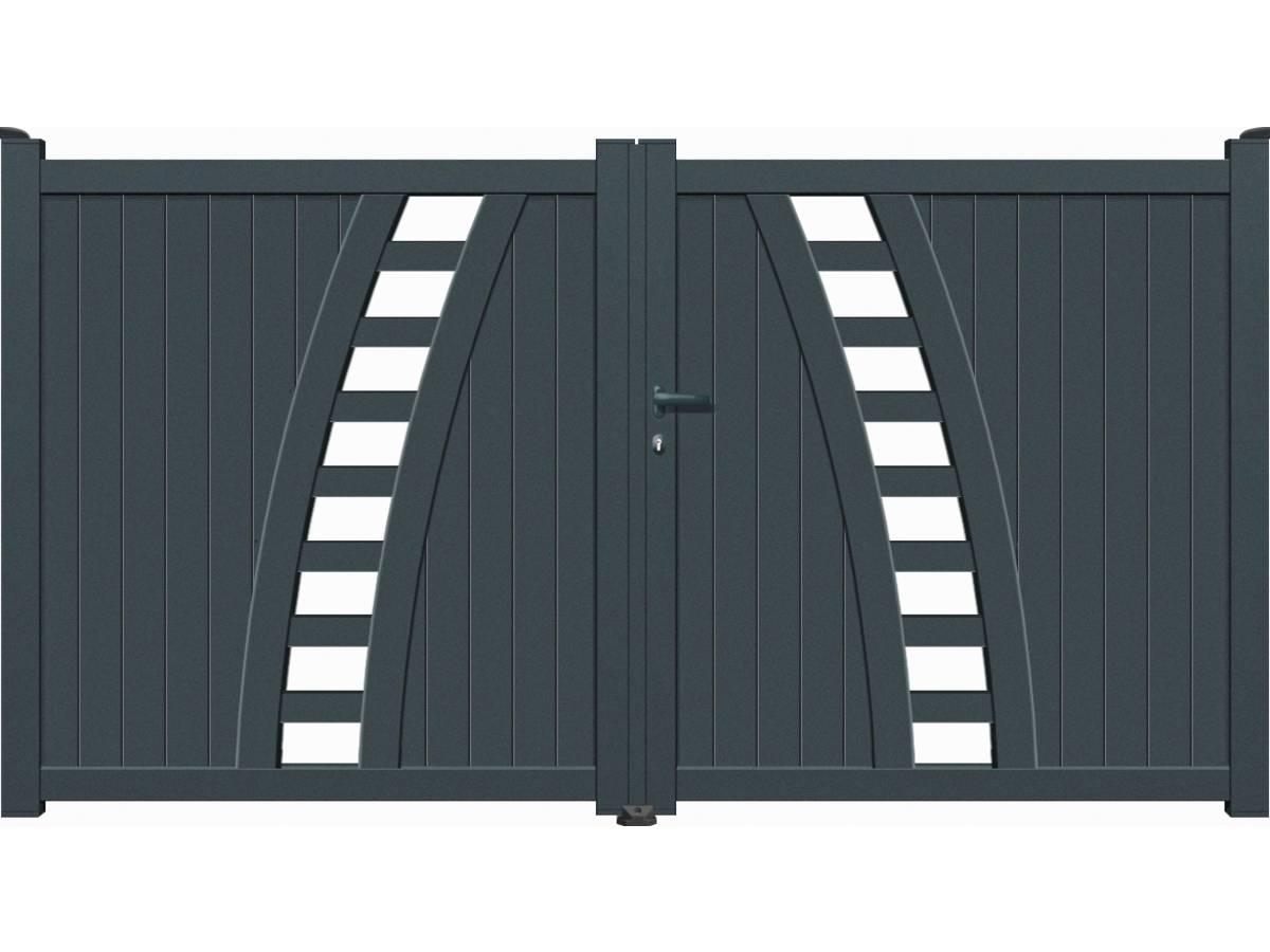 portail aluminium battant vigo gris 95183. Black Bedroom Furniture Sets. Home Design Ideas