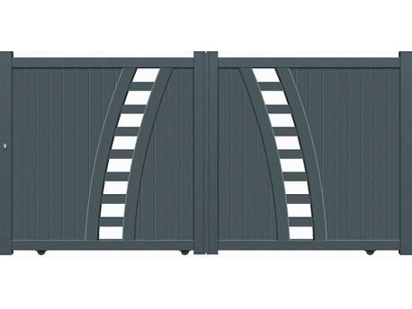 """Portail Aluminium coulissant - """"Vigo"""" - 3,75m"""