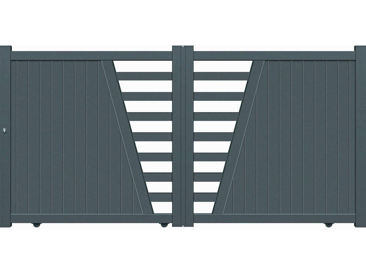 Portail Aluminium coulissant -