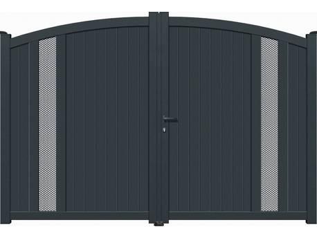 """Portail Aluminium battant - """"Alicante"""" - 4m - Gris"""