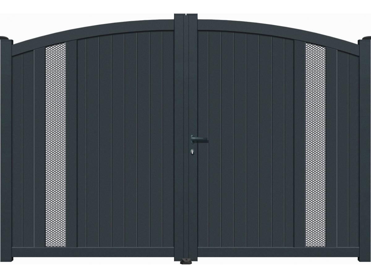 portail aluminium battant alicante 3m gris 95196. Black Bedroom Furniture Sets. Home Design Ideas