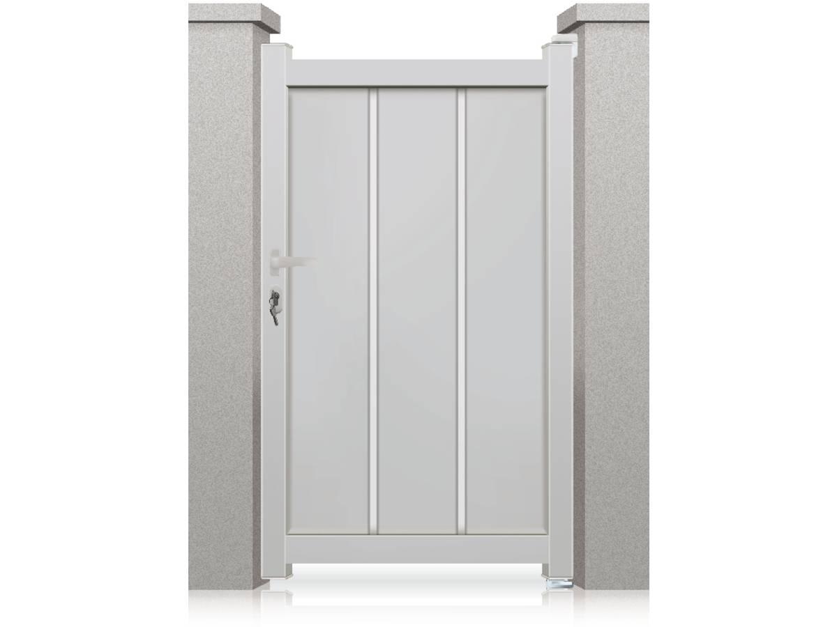 portillon aluminium philadelphia 1m blanc 95278. Black Bedroom Furniture Sets. Home Design Ideas