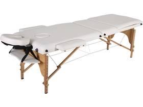 "Table de massage pliante ""Puerto Rico"" - 3 Zones - 212 x 80 x 60/83 cm - Blanc"