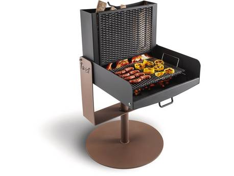 "Barbecue design Palazzetti ""Twist"" - Pivotable à 360°"