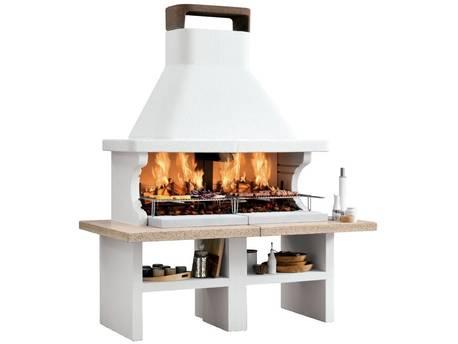 "Barbecue en pierre Palazzetti ""Patmos"" - 190 x 102 x 235 (H) cm"