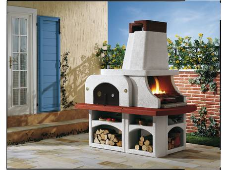 "Barbecue en pierre ""Parenzo"" - 192 x 112 x 211 (H) cm"