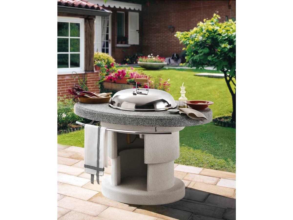 barbecue en pierre bahama 118 x 91 x 101 h cm 97666. Black Bedroom Furniture Sets. Home Design Ideas