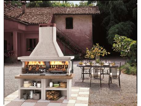 "Barbecue en pierre ""Miami"" - 204 x 95 x 266 (H) cm"