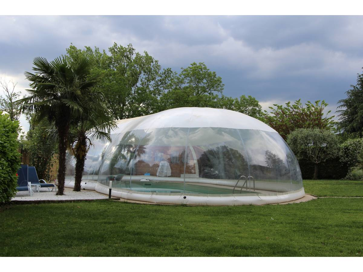 d me gonflable pour piscine cristalball 6 x 12 m 97704. Black Bedroom Furniture Sets. Home Design Ideas