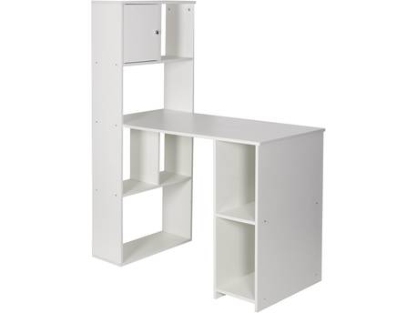 "Bureau avec Bibliothèque ""Chirs"" - Blanc"