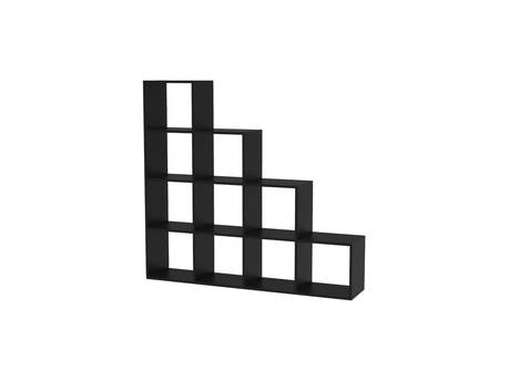 """Étagère """"Leora"""" - 146 x 29 x 138,5 cm - Noir"""