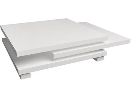"Table basse ""Elena"" - 80 x 80 x 32 cm - Blanc"