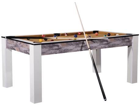 """Billard """"Tina"""" - 213 x 120 x 79 cm - Convertible en table à manger (8 personnes) - Design atelier"""