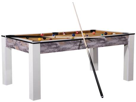 "Billard ""Tina"" - 213 x 120 x 79 cm - Convertible en table à manger (8 personnes)"