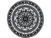 "Tapis rond ""UTOPIA 112"" - 100 x 100 cm - Noir"