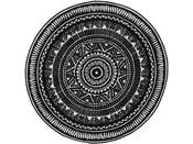 "Tapis rond ""UTOPIA 113"" - 100 x 100 cm - Noir"