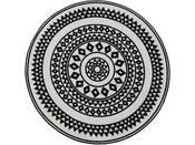 "Tapis rond ""UTOPIA 114"" - 100 x 100 cm - Noir"