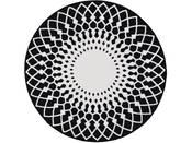 "Tapis rond ""UTOPIA 115"" - 100 x 100 cm - Noir"