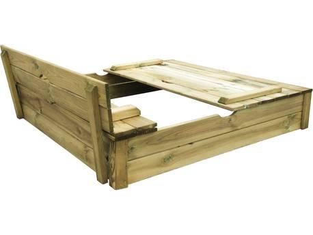 """Bac à sable en bois """"Sandy"""" avec banc"""