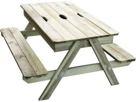 """Table pique-nique avec bac à sable intégré """"Kid"""""""