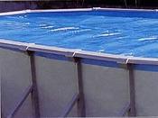 Bâches été - Couverture à bulles pour piscine ovale - 300 microns - 9.15 x 4.60 m