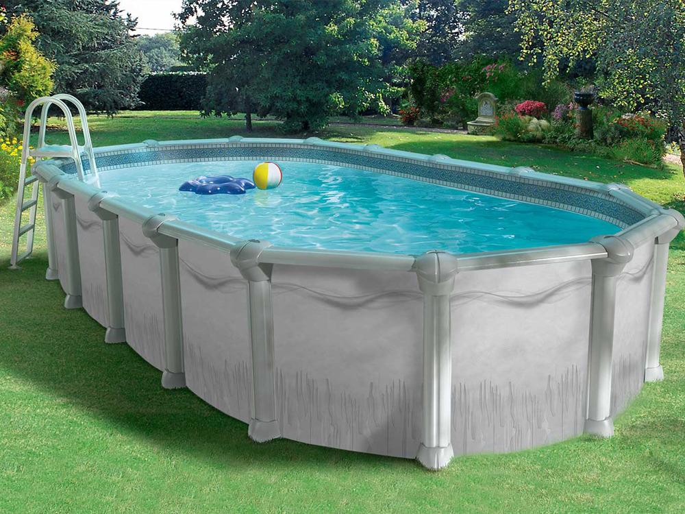 piscine acier en kit ovale soprano x x m 36109. Black Bedroom Furniture Sets. Home Design Ideas