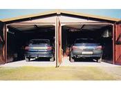 Garages bois jumelés 62 m² - 10 x 6.2 x 2.60 m - 12 mm ( dimensions pour les 2 garages réunis)