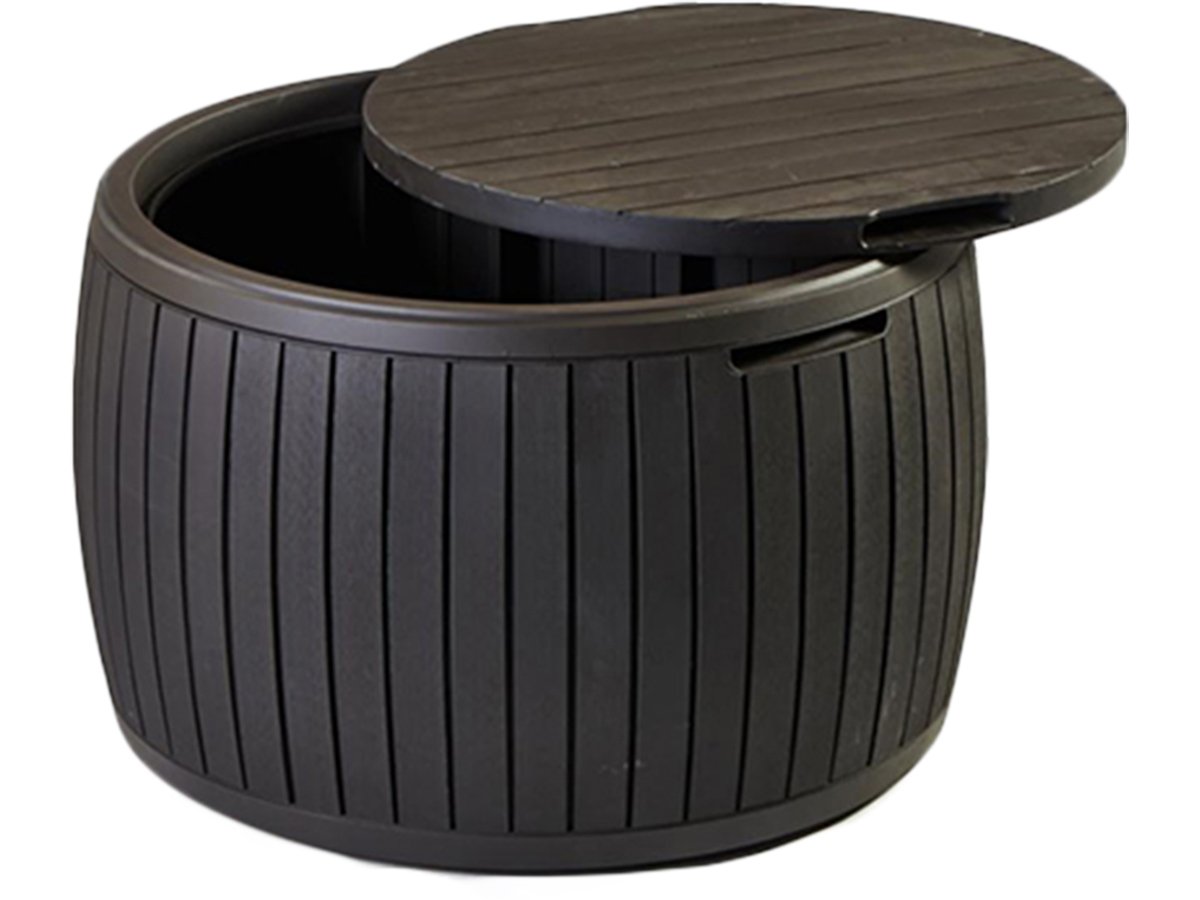 Coffre table r sine keter tonneau 143 l 95310 - Salon de jardin en tonneau ...