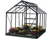 "Serre jardin verre trempé ""Sekurit"" - 4.7 m² - 186 x 250 x 190 cm - Anthracite"