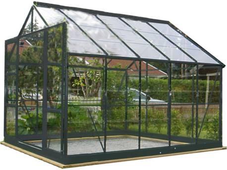"Serre jardin verre trempé ""Sekurit"" - 7.6 m² - 244 x 304 x 190 cm - Anthracite"