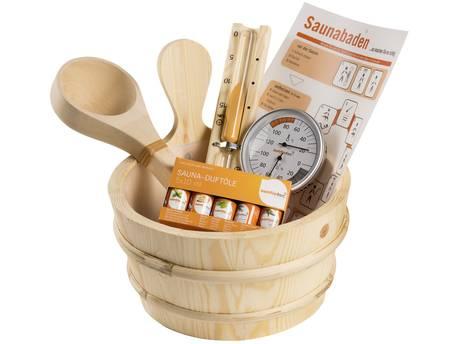 Kit accessoires sauna - 11 pièces