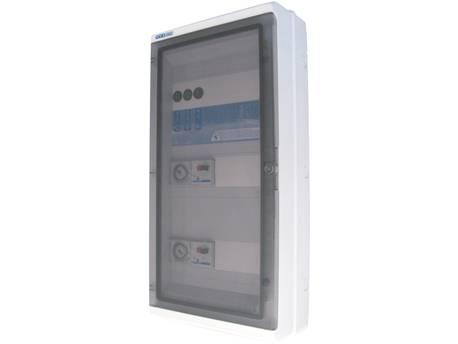"""Coffret électrique de filtration """"Panorama""""- 1 pompe - 2 projecteurs 600 VA - 1 pompe pour surpresseur - 15 x 28 x 39 cm"""