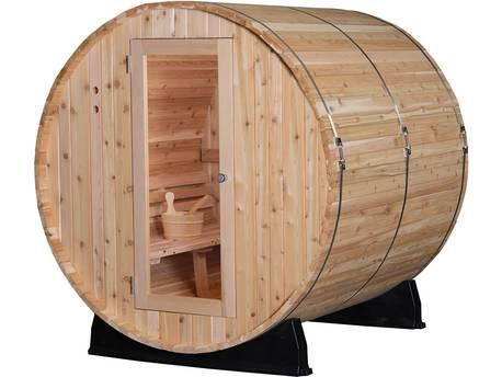 "Sauna ""Tonneau Pinnacle"" - 4 places - 182.9 x 182.9 cm - Bois"