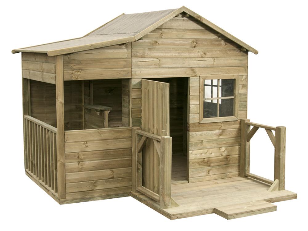 Cabane enfant bois la villa m m 58645 - Construire maisonnette en bois ...