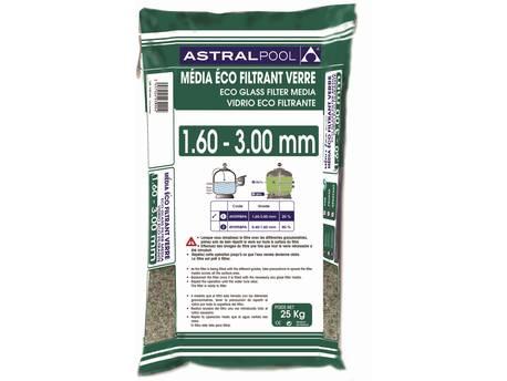 Verre éco filtrant 1.6 - 3 mm - 25 kg