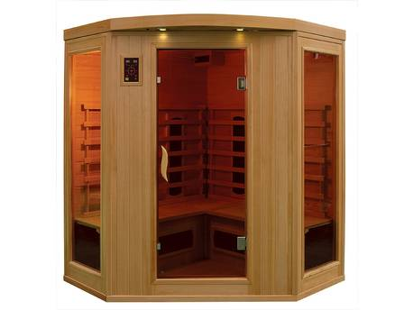Cabine de sauna à infrarouges - 3/4 personnes - 150 x 150 x 190 cm - Bois