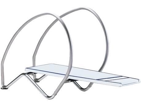 "Plongeoir flexible ""Dynamic avec arceaux"" - Blanc"