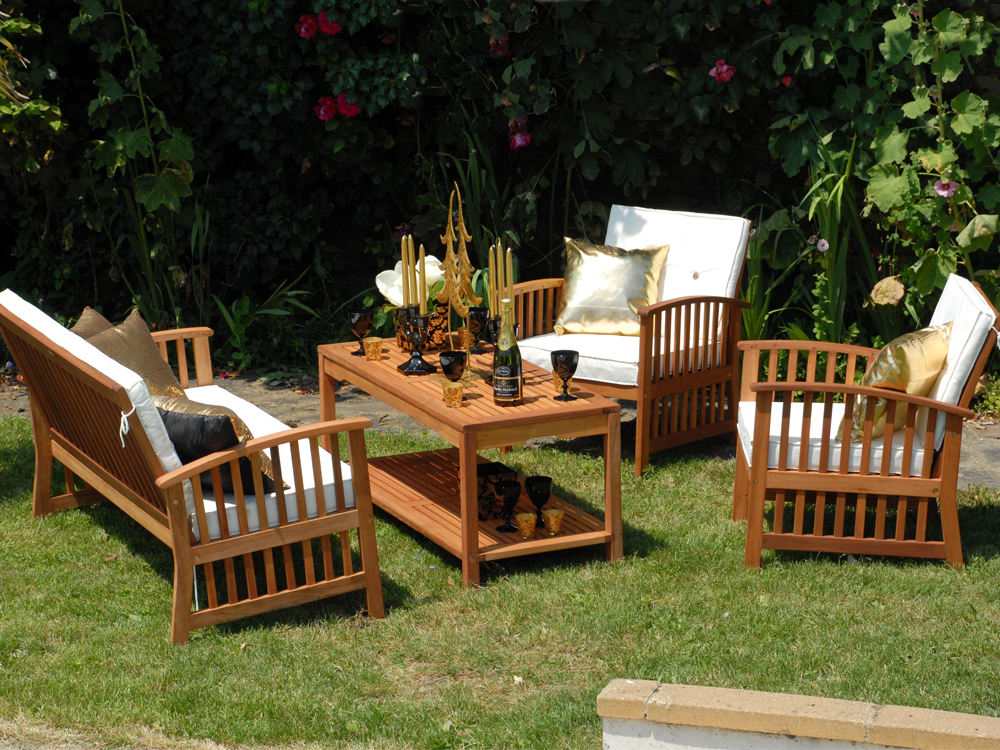 salon jardin casablanca 1 table 2 fauteuils 1 banc 27142. Black Bedroom Furniture Sets. Home Design Ideas