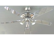 "Ventilateur de Plafond ""Nuage"" - Ø 132 cm - Coloris chrome brossé"