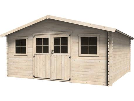 """Abri jardin bois """"Avelin"""" - 22.85 m² - 4.78 x 4.78 x 2.67 m - 34 mm"""