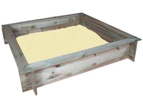 Bac à sable avec couvercle - 120 x 120 x ht 23 cm
