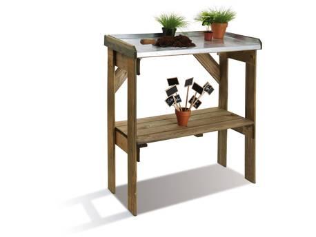 Table de préparation - 83 x 40 x 85 cm - 1 étagère - Bois