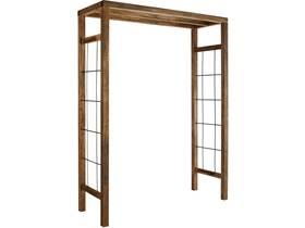 """Pergola bois """"Ikebana"""" - 160 x 60 x 214 cm - Teinté marron"""