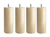 Pieds pour sommier tapissier - H 17 cm - Lot de 4